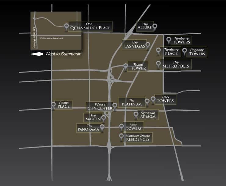 Las Vegas High Rise Condo Map