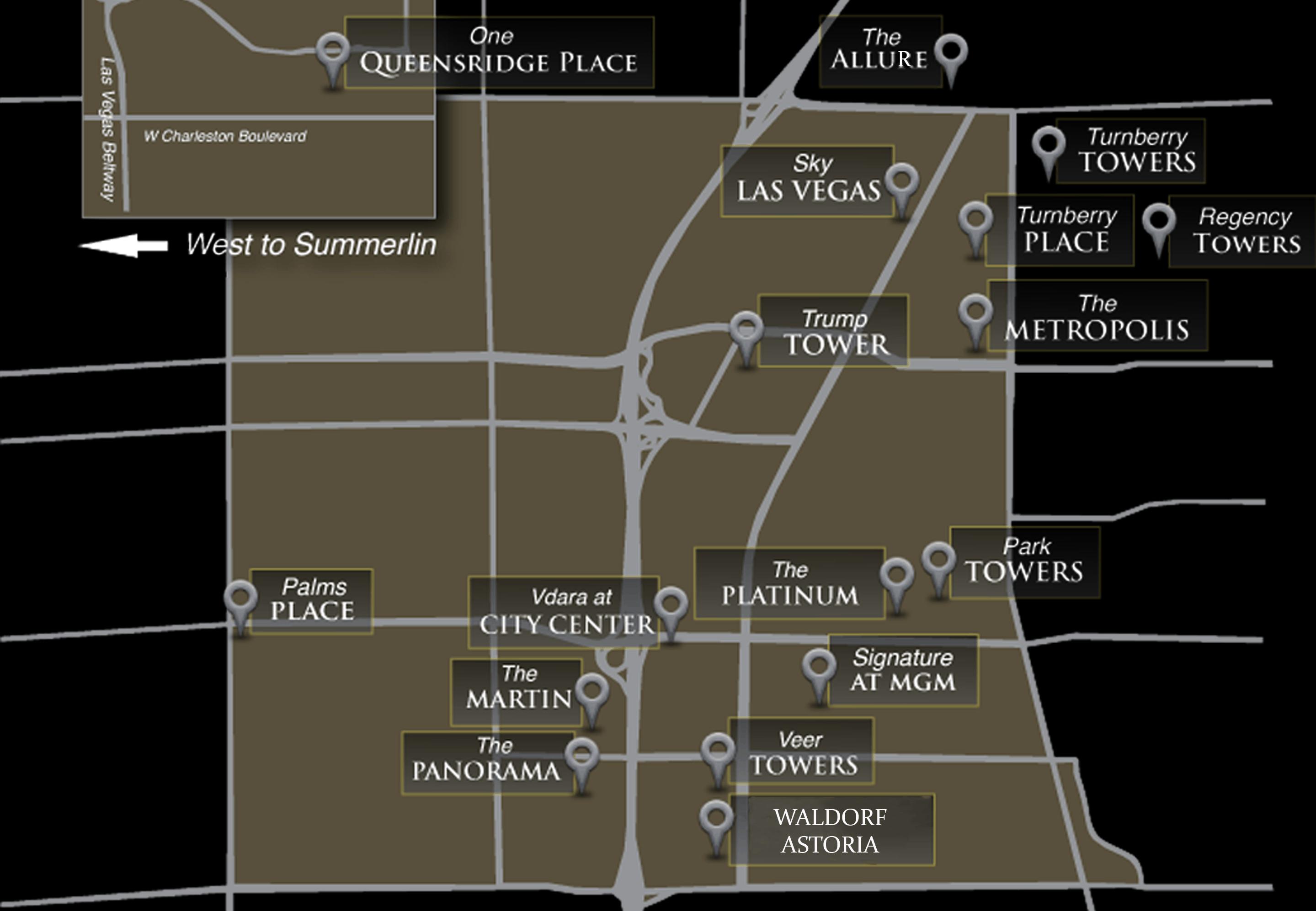 Las Vegas Condos Map