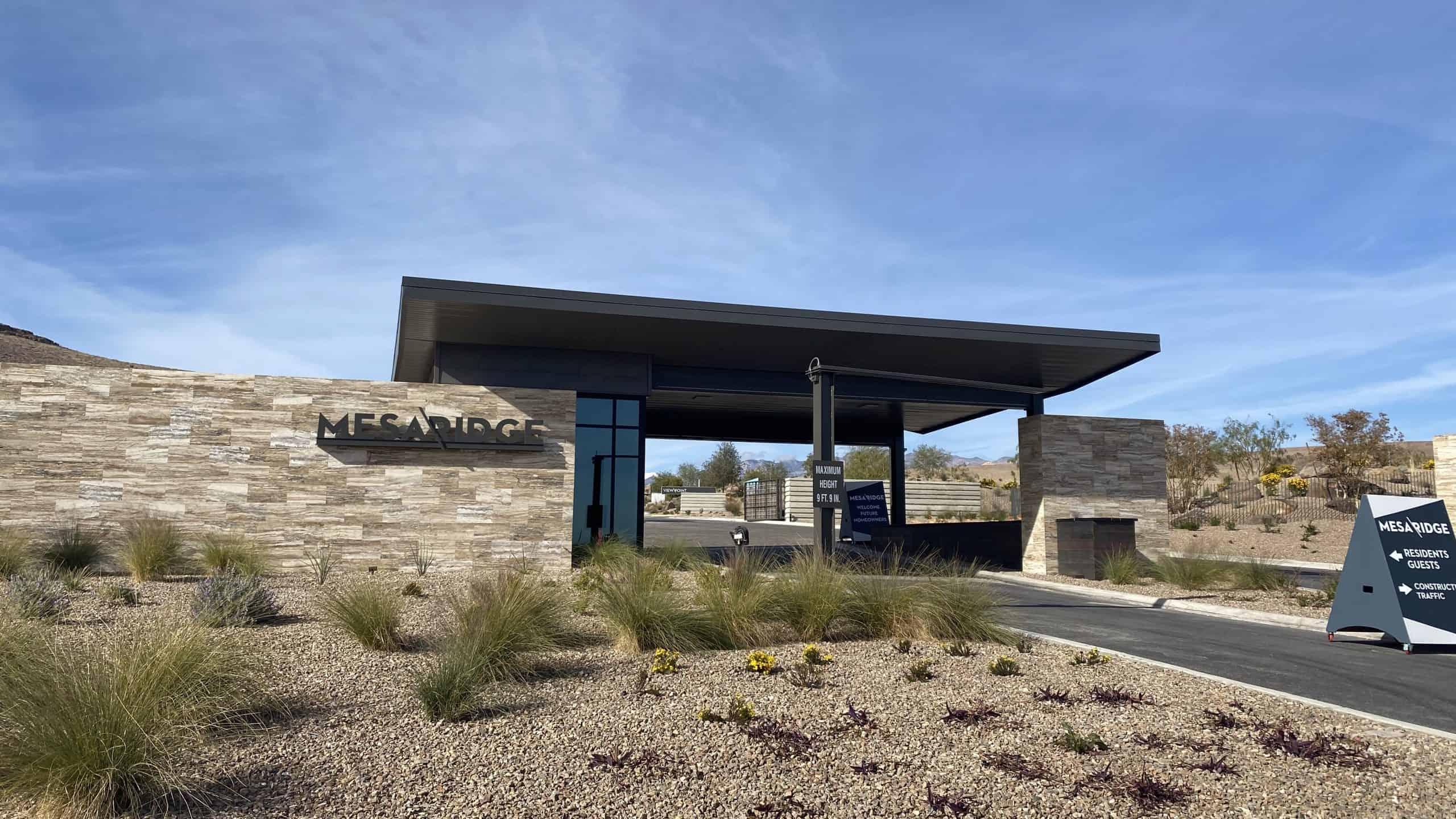 Mesa Ridge Entrance