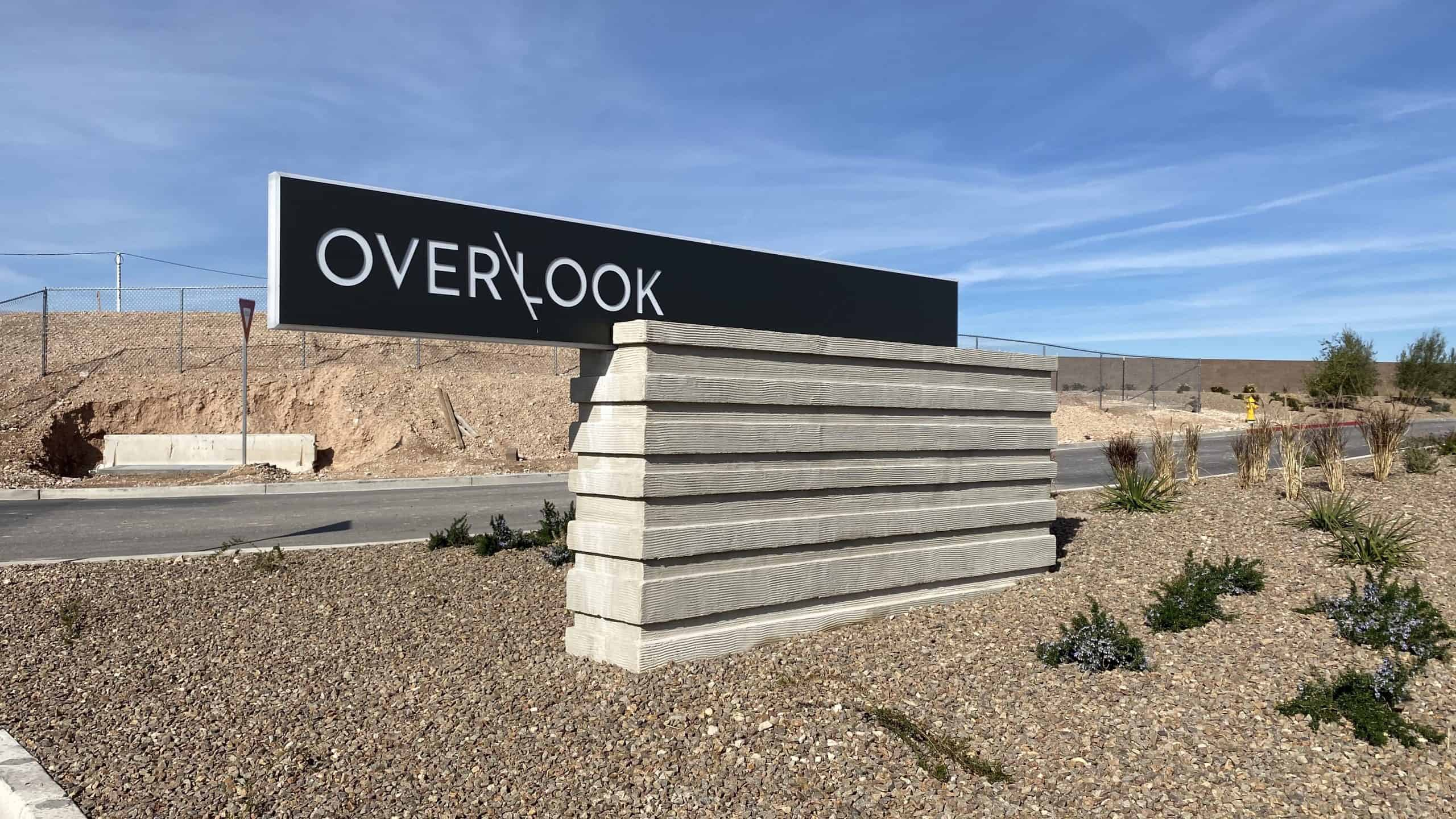Mesa Ridge Overlook Collection Sign